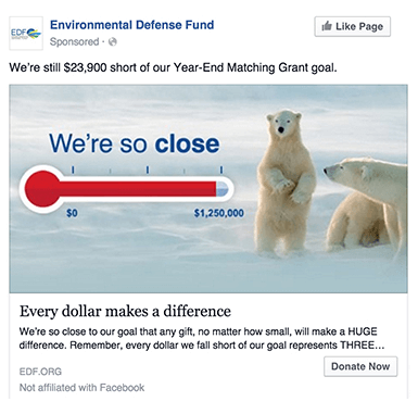 Environmental Defense Fund Advertising on Facebook