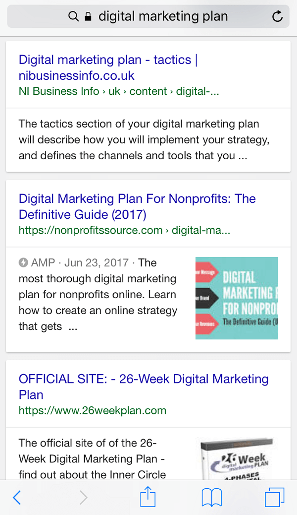 SEO for nonprofits - amp page
