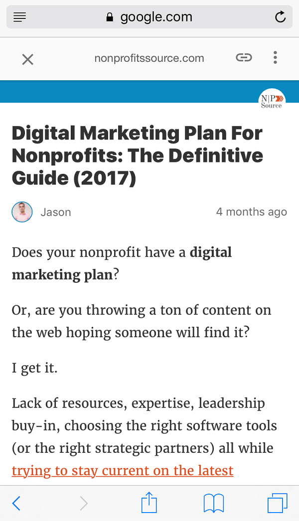 SEO for nonprofits - digital marketing plan amp