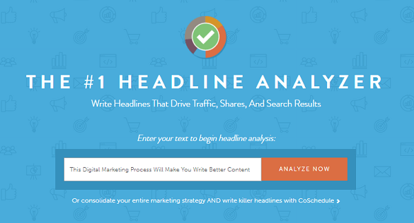 digital marketing process - headline analyzer