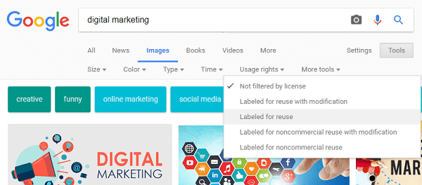 digital marketing process - image copyright