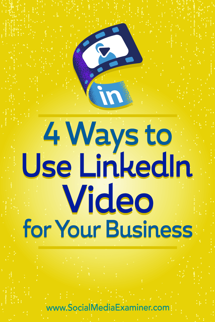 Discover four ways to publish LinkedIn video when you don't know what to talk about.