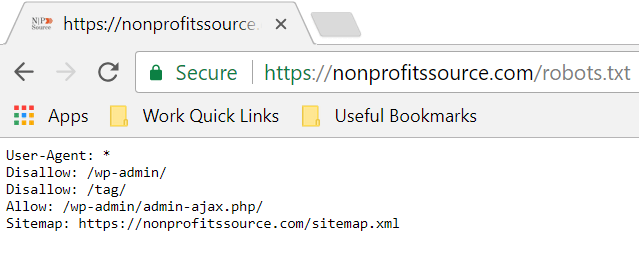 nonprofits source - robots.txt
