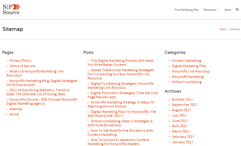 nonprofits source - sitemap