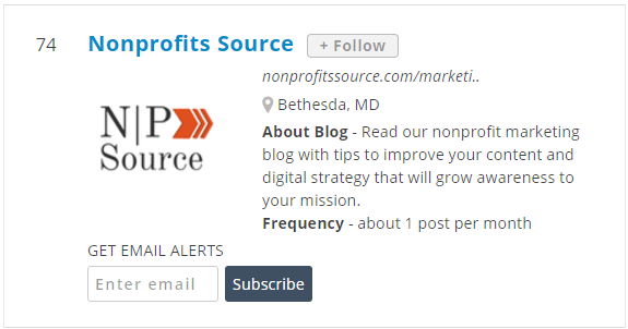 top nonprofit marketing blog