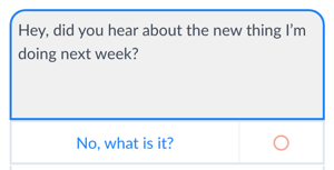Use buttons to let people move forward with Messenger bot conversations.