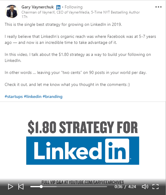 LinkedIn Marketing - Gary Vaynerchuk $1.80 Strategy