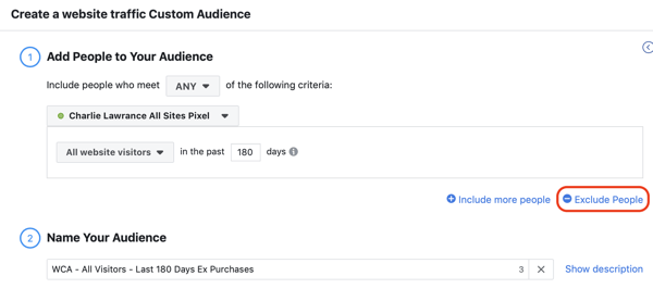 Use Facebook ads to advertise to people who visit your website, Step 3.
