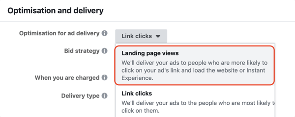 Use Facebook ads to advertise to people who visit your website, Step 9.