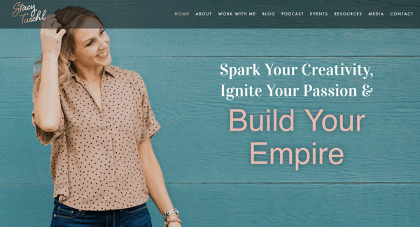 Stacy Tuschl's website for She's Building Her Empire.