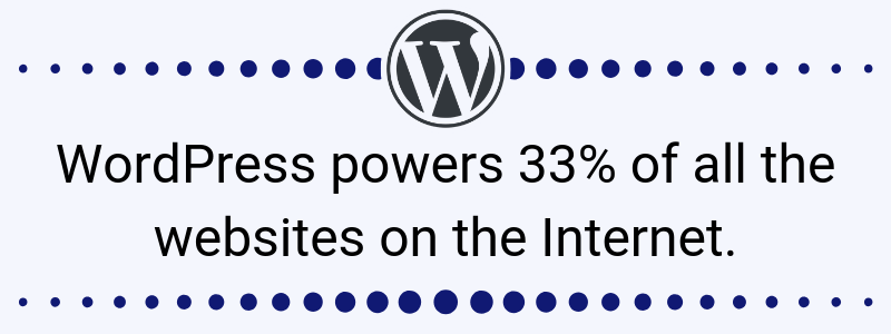 WordPress powers 33 percent of websites