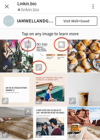 How to add or share a link to Instagram, example 6.