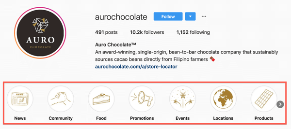 How to add or share a link to Instagram, example 9.
