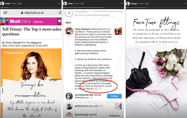 How to add or share a link to Instagram, example 11.