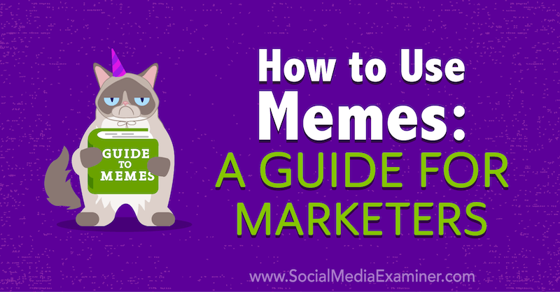How to Use Memes: A Guide for Marketers by Julia Enthoven on Social Media Examiner.
