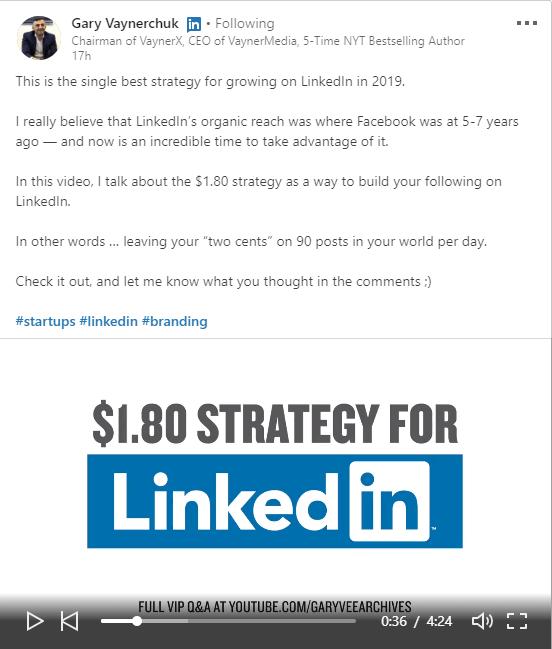LinkedIn Marketing - Gary Vaynerchuk $1.80 Strategy