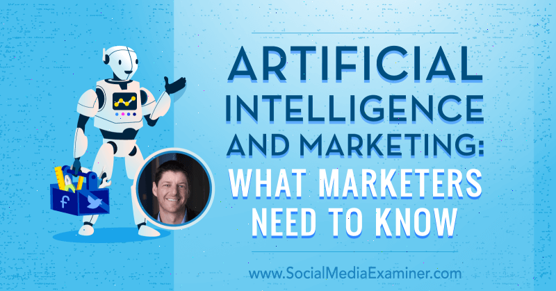 Artificial Intelligence and Marketing: What Marketers Need to Know featuring insights from Paul Roetzer on the Social Media Marketing Podcast.