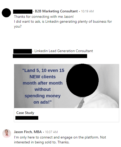 LinkedIn Marketing - Cold Calling