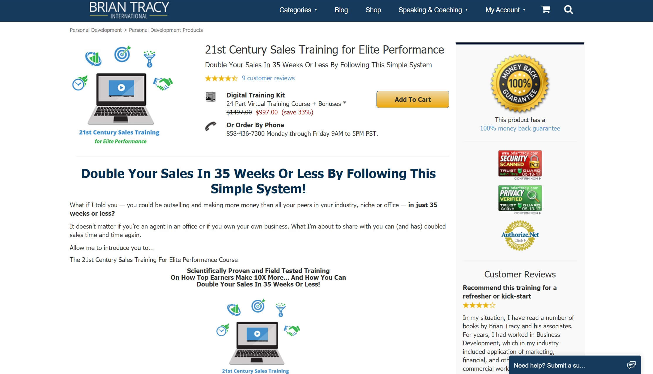 The 21st Century Sales online training course.