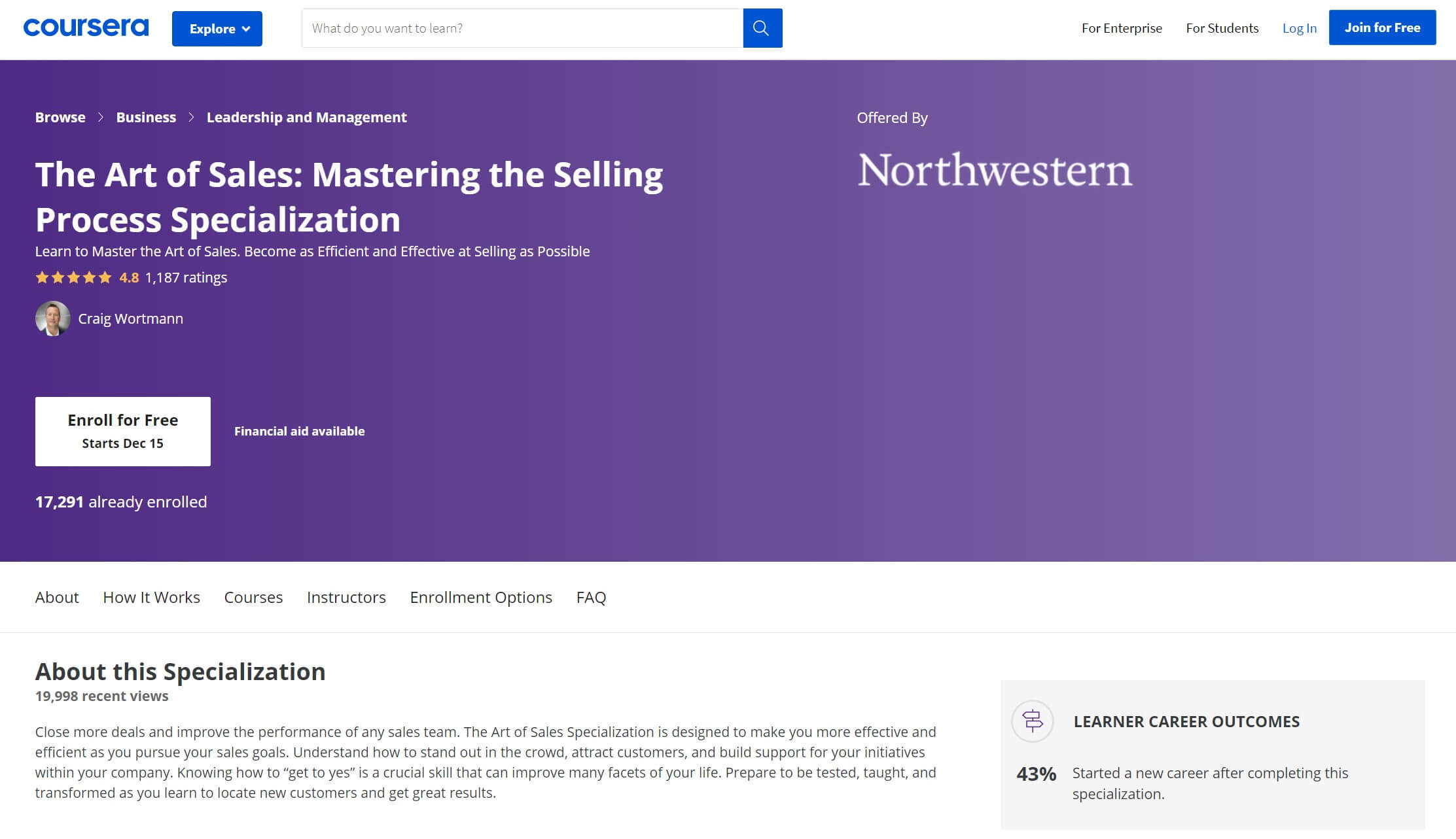 The Art of Sales online training course.