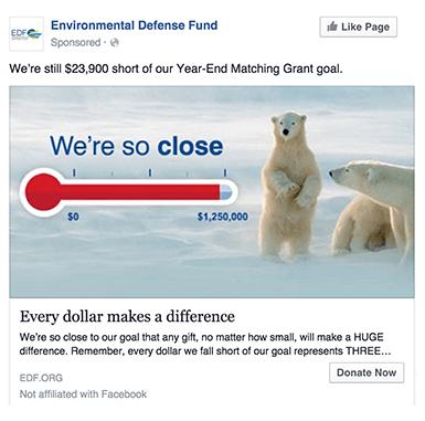 Environmental Defense Fund Advertising on Facebook