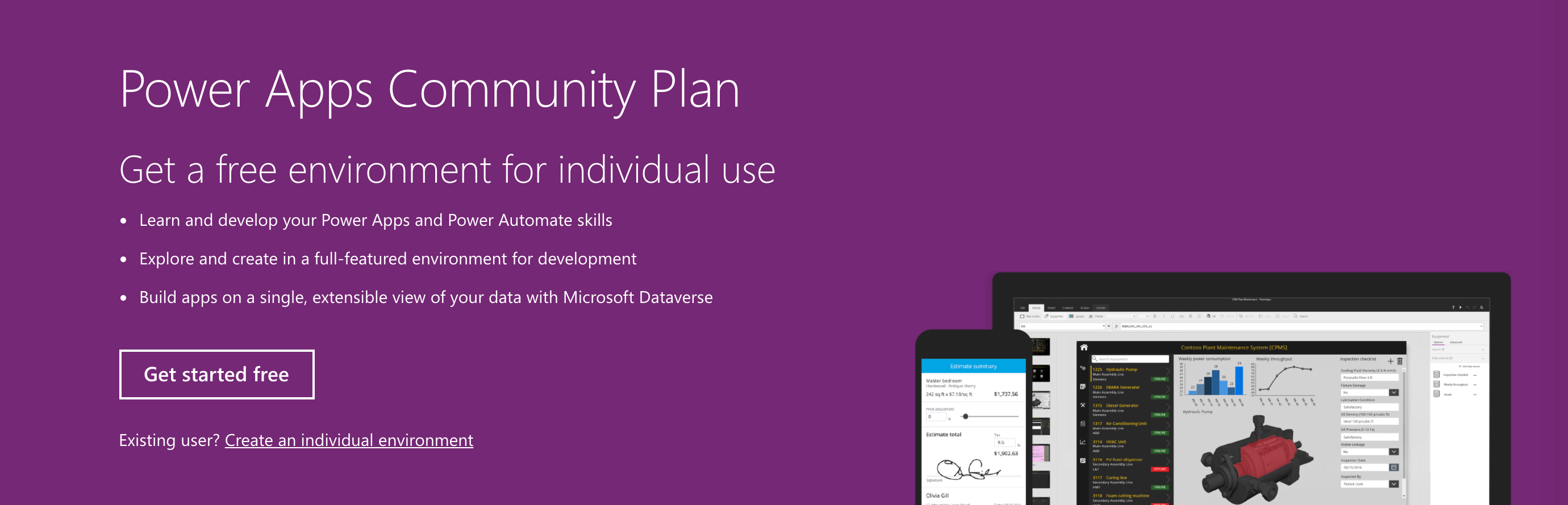 The Microsoft Flow Free Power Apps Community Plan.