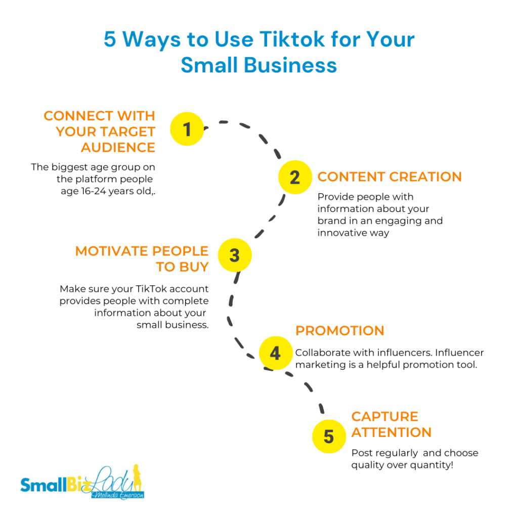 5 Ways to Use Tiktok for Your Small Business infographics image