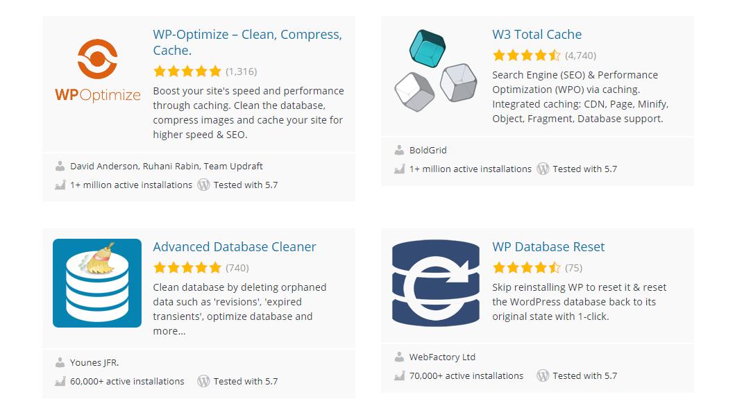 Database cleaner plugins