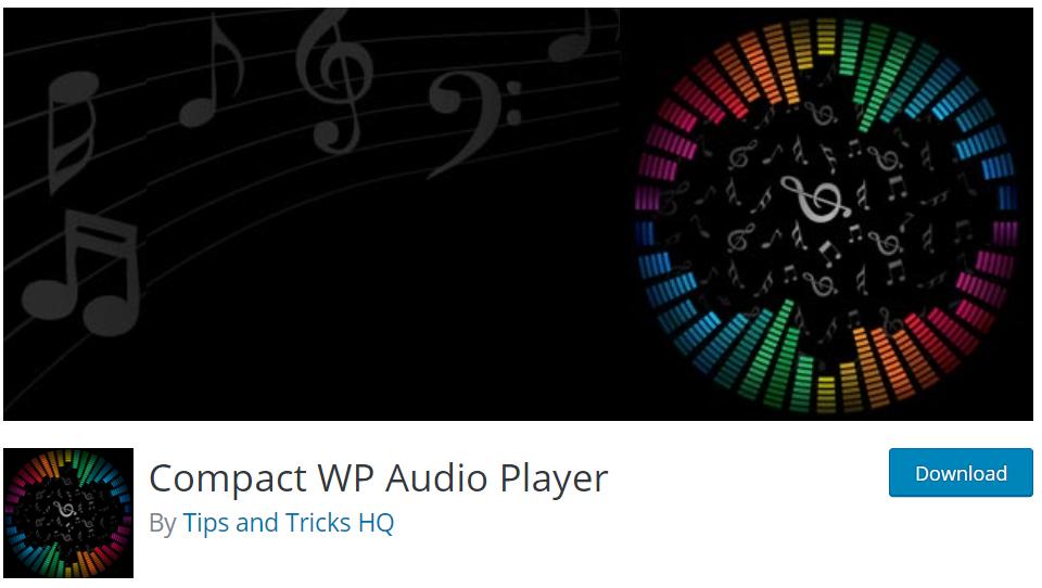 compact wordpress audio player plugin