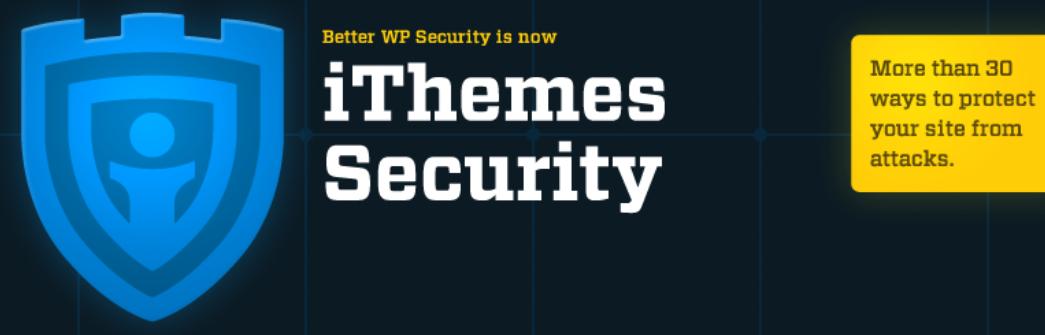 The iThemes WordPress security plugin.