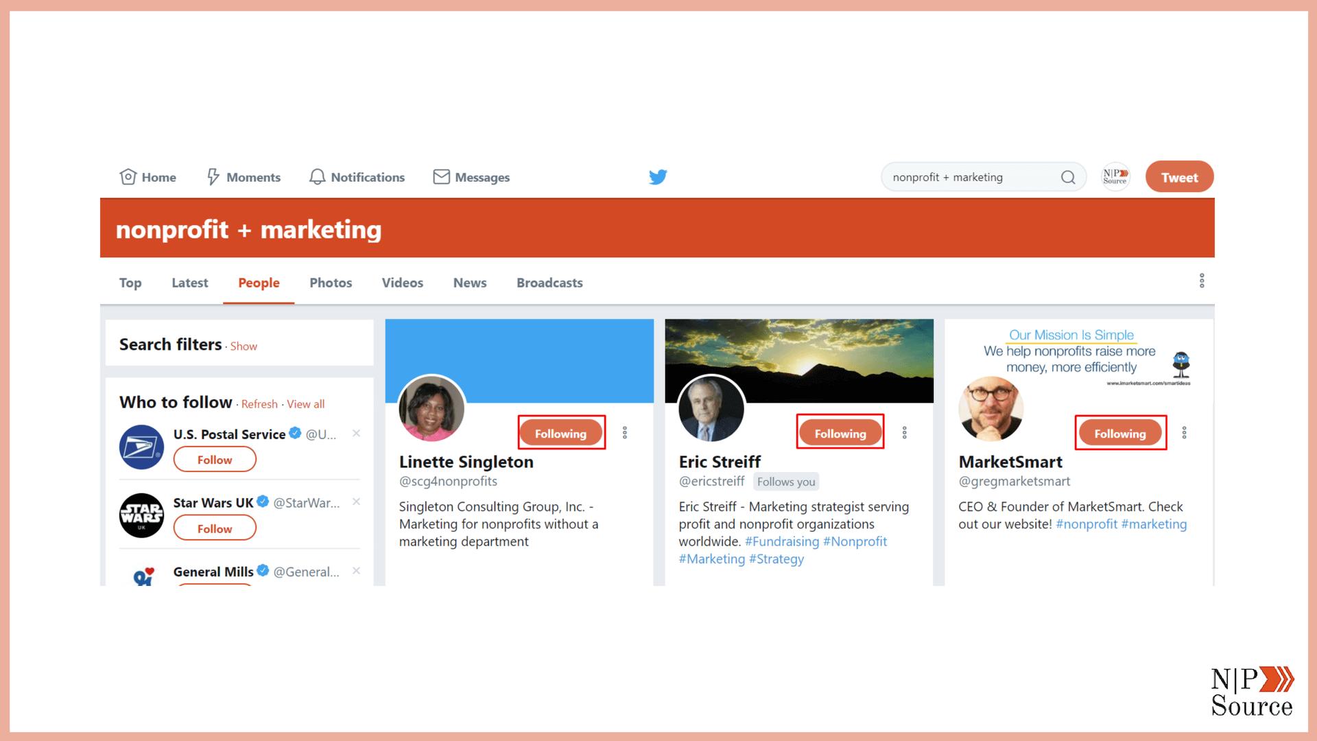 Nonprofit Twitter Marketing - Nonprofits Source