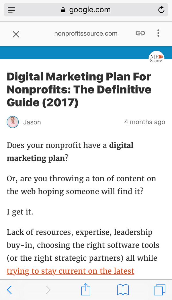 SEO for nonprofits - digital marketing plan amp