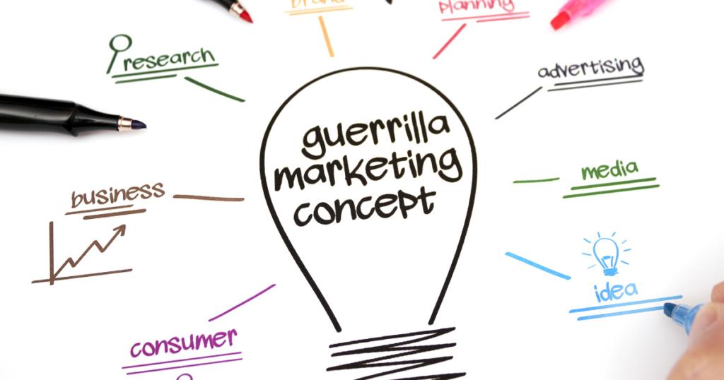 guerrilla marketing concept image