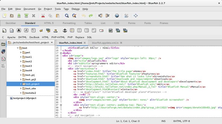 Must-Have Web Design Tools bluefish image