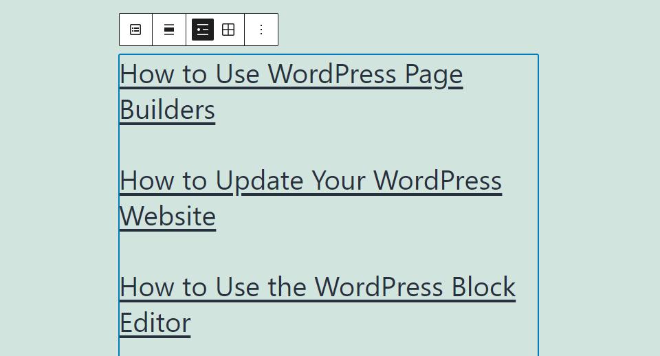 The Latest Posts block in WordPress
