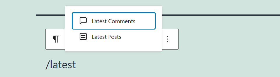 Adding a recent posts section manually